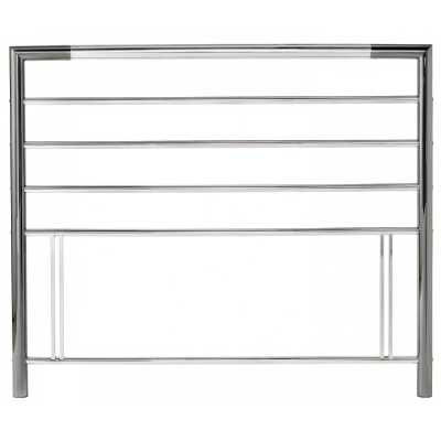 Urban Nickel And Chrome Finish Metal Contemporary Style Headboard 4ft6 Double 135cm