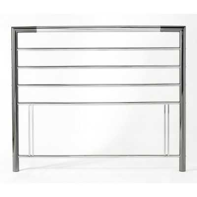 Urban Contemporary Style Nickel And Chrome Metal 4ft Small Double 122cm Headboard