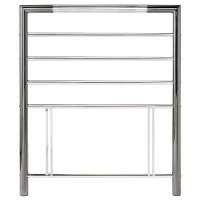 Urban Nickel and Chrome Metal Headboard 3ft Single 90cm Contemporary Designed
