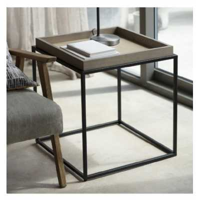 Tray Side Table Grey