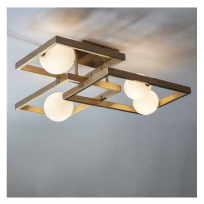 Modern Gloss White And Brushed Gold Finish Height Adjustable Ceiling Light 20 x 64cm