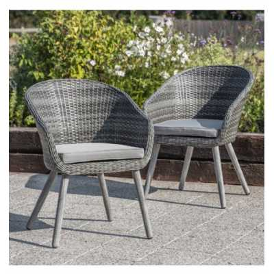 Outdoor Chair Washed Grey (2pk)