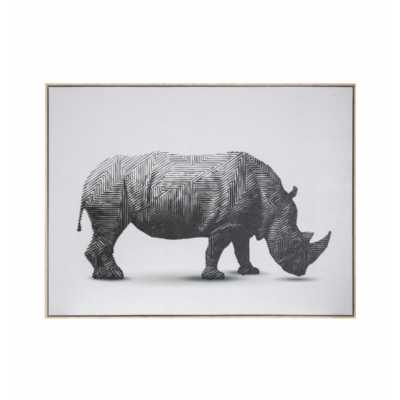 Rhino Abstract Framed Canvas