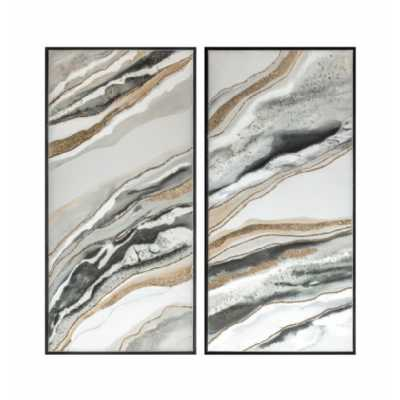 Abstract Framed Canvas (Set of 2)