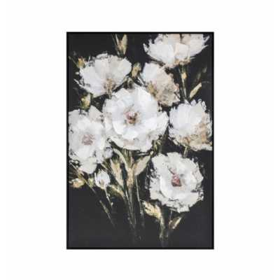 Peonies Framed Canvas