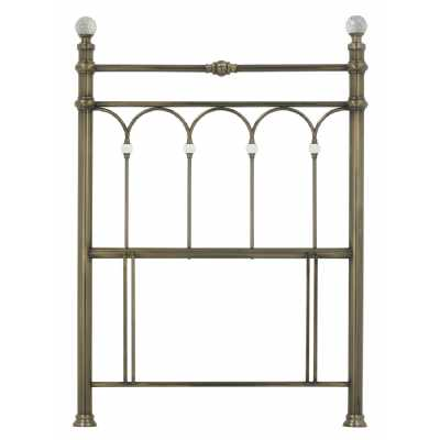 Crystal Contemporary Style Antique Brass Metal 3ft 90cm Bedroom Single Headboard