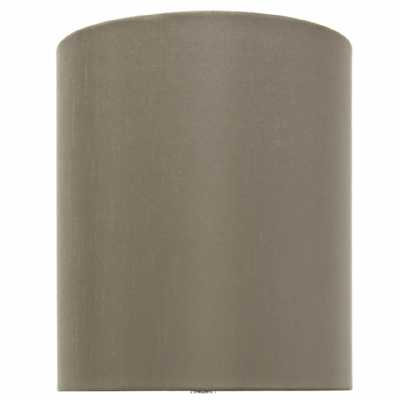 Taupe 10 Inch Faux Silk Cylinder Shade (dual Fitting)