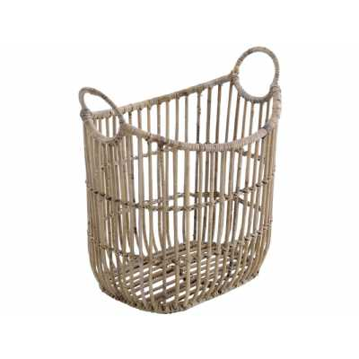 Toba Rattan Basket With Handles
