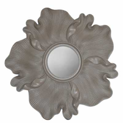 Bardot Light Taupe Flower Wall Mirror