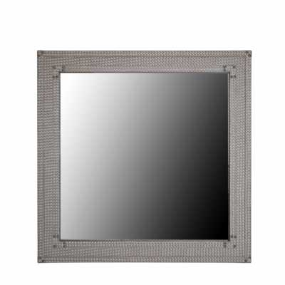 Bardot Light Taupe Faux Square Wall Mirror