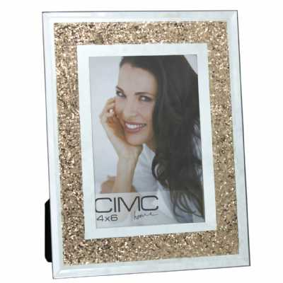 Value Glass Crush Gold Photo Frame 4in X 6in