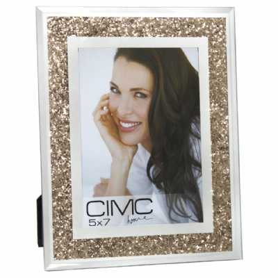 Value Glass Crush Gold Photo Frame 5in X 7in