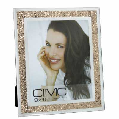 Value Glass Crush Gold Photo Frame 8in X 10in