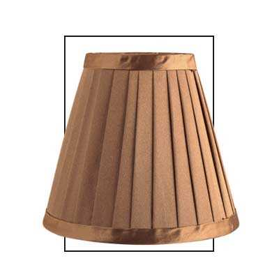 Gold 6 Inch Satin Silk Pleated Shade
