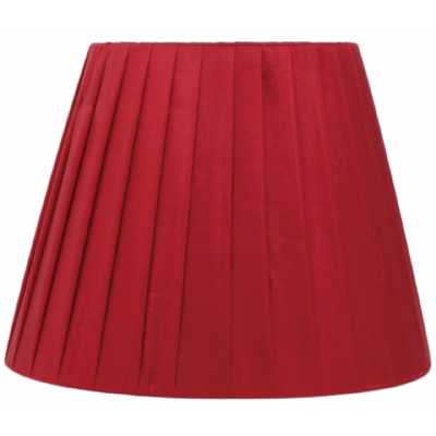 Red Ribbed 6 Inch Shade With Clip Fitting
