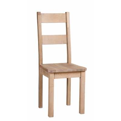 Vancouver Sawn White Wash Dining Chair With Timber Seat