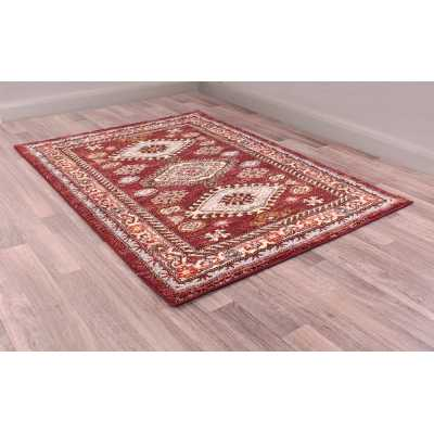Cashmere 5567 Red Traditional Polyester Floral Rug 120 X 170