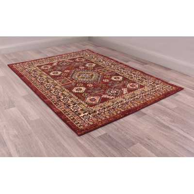 Cashmere 5568 Red Traditional Polyester Floral Rug 120 X 170