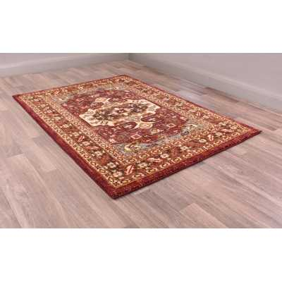Cashmere 5570 Red Traditional Polyester Floral Rug 66 X 240