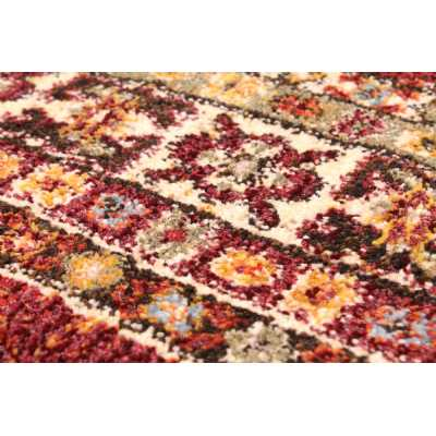 Cashmere 5568 Red Traditional Polyester Floral Rug 200 X 290