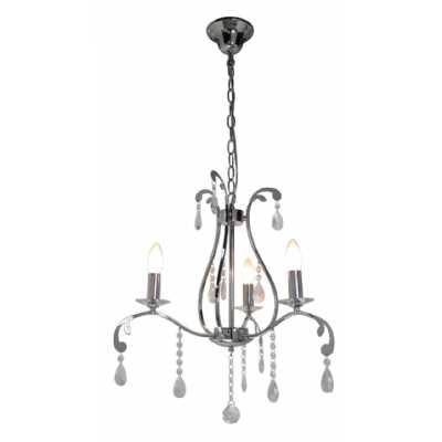 Clear Cut Glass 3 Light Electric Pendant