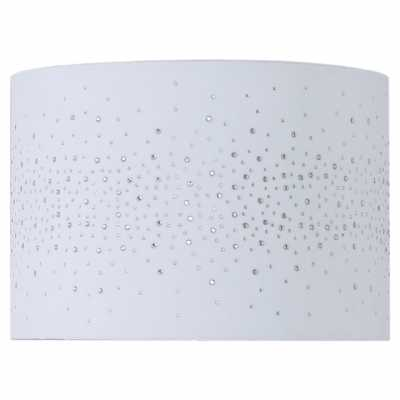 13in Diamond Velvet Cylinder Shade White (dual Fitting)