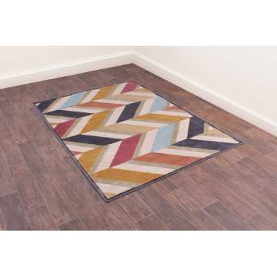 Dimensions 834 Teal Geometric Contemporary Wool Rug 160 x 230