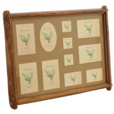 Multi Photo Frame With Beige Background