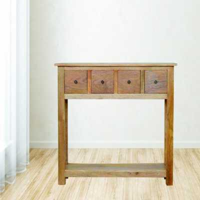 4 Drawer Narrow Console Table