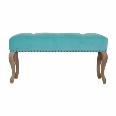 French Style Turquoise Bench