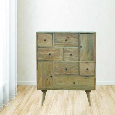 Scandinavian Styled Solid Wood Multi Drawer Cabinet