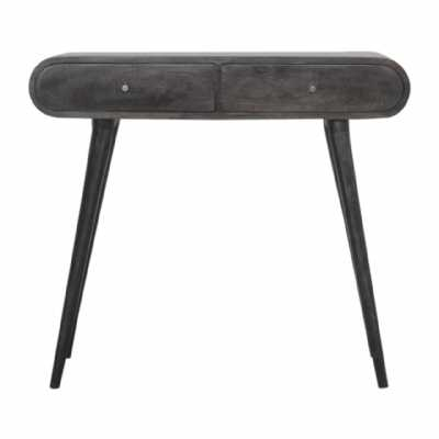 In1459 Ash Black Curved Edge Console Table