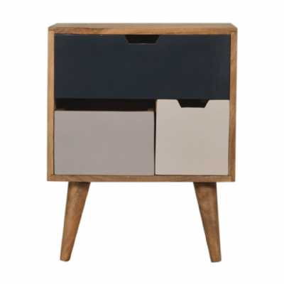Navy Multi Bedside With Removable Drawers