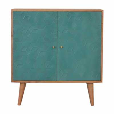 In1524 Acadia Teal Cabinet