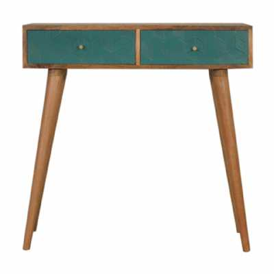In1548 Acadia Teal Console Table