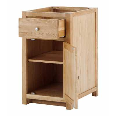 Handmade Oak Kitchens Right 1 Door 1 Drawer Cabinet With soft close drawers