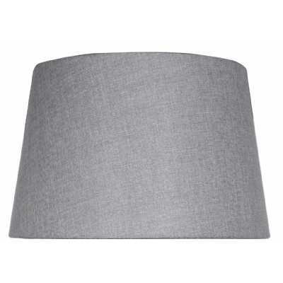Grey Linen 15 Inch Empire Shade (dual Fitting)