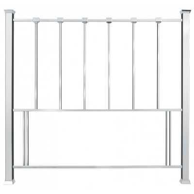 Madison Contemporary Style Shiny Nickel Metal 150cm King Size Slatted Bedroom Headboard