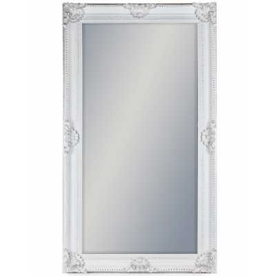 Extra Large White Rectangular Classic Wall Mirror With Embellished Ornate Frame 210x117x10cm