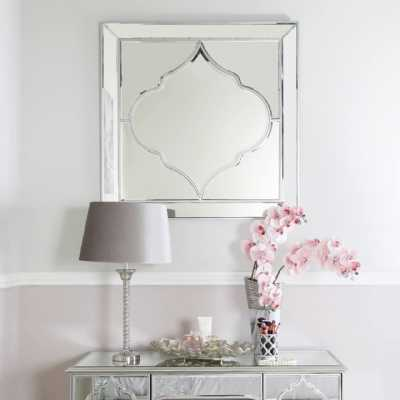 Moroccan Glass Silver Wall Mirror