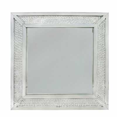 Glass Gems Square Mirrored Frame Wall Mirror