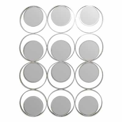Circles Wall Mirror Silver