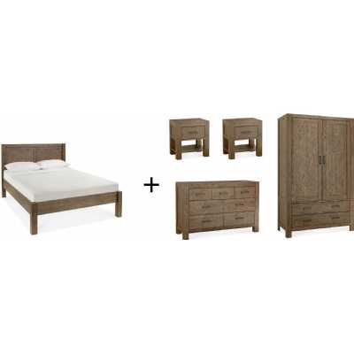 Turin Dark Oak Bedroom Set 'C'