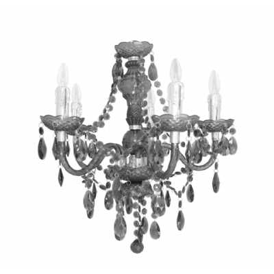Black Electric Five Light Princess Pendant