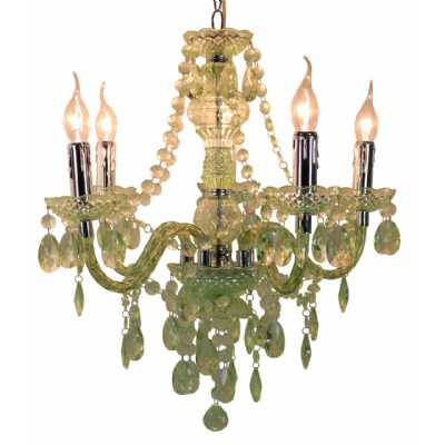 Pistachio Electric Five Light Princess Pendant Chandelier Ceiling Light