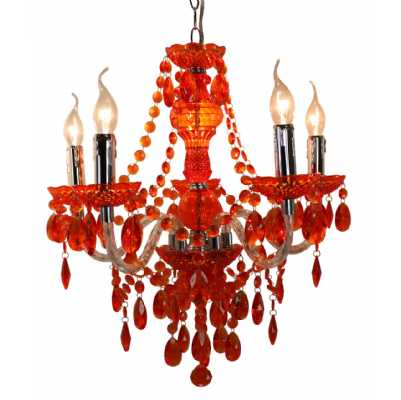 Terracotta Electric Five Light Princess Pendant