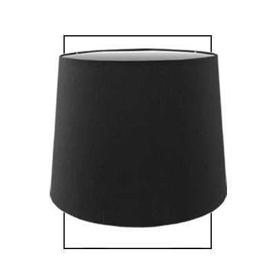 10i Premium Faux Silk Tall Drum Shade Black
