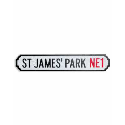 Antique and Quirky Rectangular Natural Wood St. James's Park Ne1' Road Sign 13.5x70x2.5cm