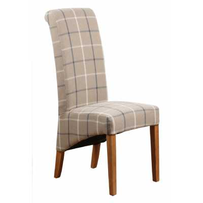 Mull Latte Fabric Dining Chair